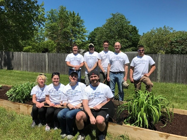 On June 7th for the United Way's Day of Caring, Baker employees rolled up their sleeves and worked at a number of Waban homes in Sanford, Maine cleaning up, planting flowers, and painting.